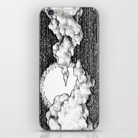 8 bit iPhone & iPod Skins featuring 8 Bit Sky by Corinne Elyse