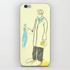 Pez y naranja iPhone & iPod Skin