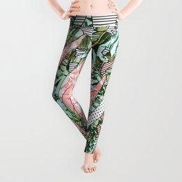 """""""Parrots & Floral Jungle"""" Leggings"""