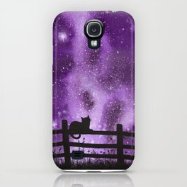 Night full of Sky Purple Watercolor Galaxy Painting iPhone Case