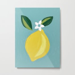 Meyer Lemon Metal Print