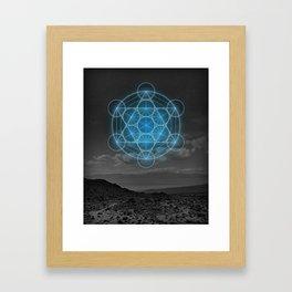 Metatron's Cube - Desert Blue Framed Art Print