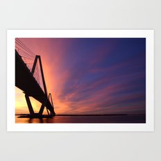 Charleston Bridge. Art Print
