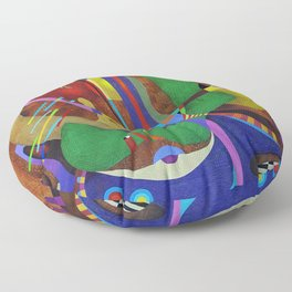 Painting abstract climbing in the mountains Floor Pillow