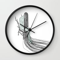 witch Wall Clocks featuring Witch by Sparganum