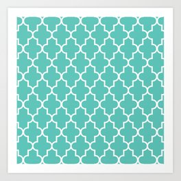 Moroccan - Turquoise Art Print