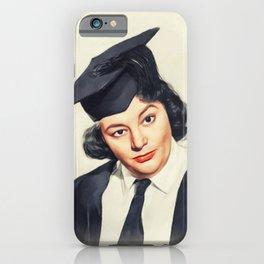Hattie Jacques, Vintage Actress iPhone Case