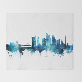 Frankfurt Germany Skyline Throw Blanket