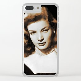 Hollywood Legends, Lauren Bacall Clear iPhone Case