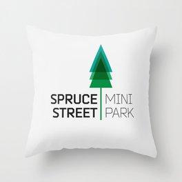 Spruce Street Mini Park Throw Pillow