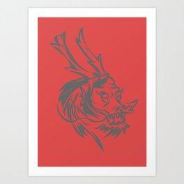 kunf fu dragon martial arts picture chenesse Art Print