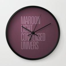 MetaType Maroon Wall Clock