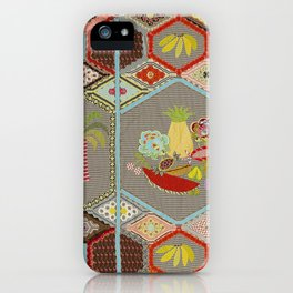 Carmen Miranda meets Josephine Baker Quilt iPhone Case