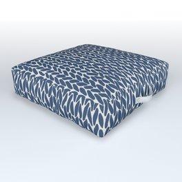 Hand Knit Navy Outdoor Floor Cushion
