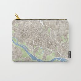 Richmond Virginia City Map Carry-All Pouch
