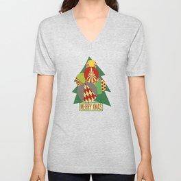 Christmas tree Minimalist green Unisex V-Neck