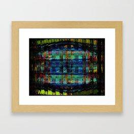 """Conical Weaver Vapour Grid"" Framed Art Print"