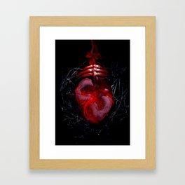 Orbital Hearts Framed Art Print
