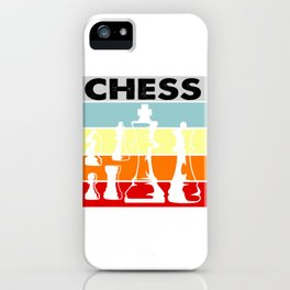 Chess - Cute Chess Player Grandmaster Strategy Board Game iPhone Case