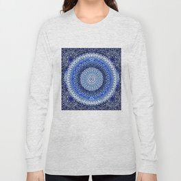 Cobalt Tapestry Mandala Long Sleeve T-shirt