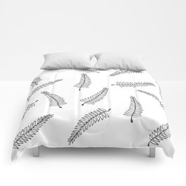 Branch Pattern White Comforters