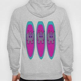Three Hippos Surfing Hoody
