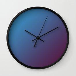 Blue and Dark Pink Magenta Burgundy Gradient Ombré Wall Clock