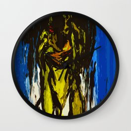 The Slit-Mouthed Woman Wall Clock
