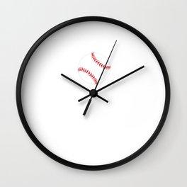 Proud Girlfriend of a Baseball Player Fan T-Shirt Wall Clock