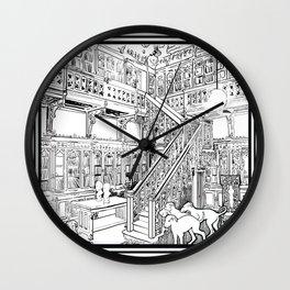 Borzoi puppies Wall Clock