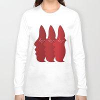 redhead Long Sleeve T-shirts featuring RedHead by zeerowski