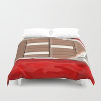 chocolate Duvet Covers featuring Chocolate by Dano77