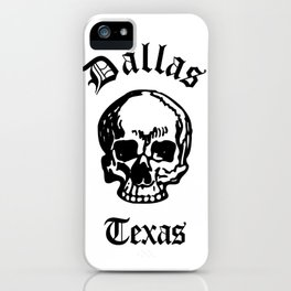 Dallas Texas Urban Streetwear White Skull, Super Sharp PNG 2 iPhone Case