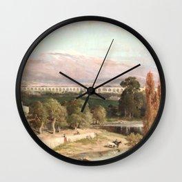 Jules Laurens - Carpentras Aqueduct and Mont Ventoux Wall Clock