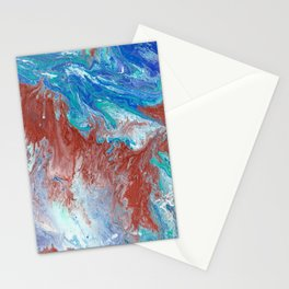 Copper Pour Stationery Cards