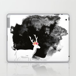 YOUNG DEER WITH FLOWER CROWN Laptop & iPad Skin