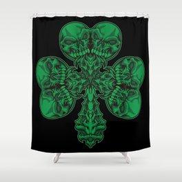 Cloverleaf Full Of Skulls - Lucky To Death Shower Curtain