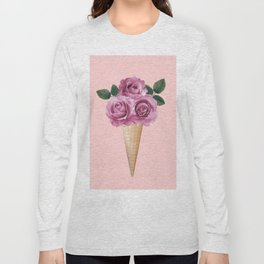 Floral Ice Cream Long Sleeve T-shirt