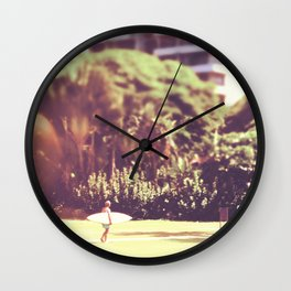 I'll Bring My Board to Work Surfer Hawaii Surfboard Waikiki Beach People Photography  Wall Clock