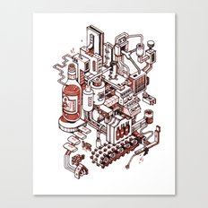 Small City - Brown Canvas Print
