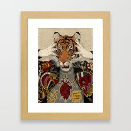 Demon duels. Framed Art Print