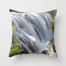 The waterfalls Throw Pillow