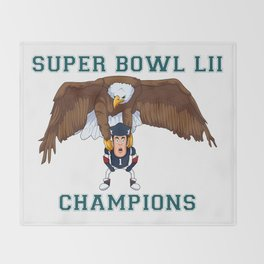 Fly Eagles Fly Throw Blanket