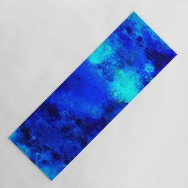 psychedelic color gradient pattern splatter watercolor blue Yoga Mat