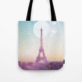 I LOVE PINK PARIS EIFFEL TOWER - Full Moon Universe Tote Bag