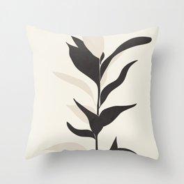 Abstract Minimal Plant Throw Pillow