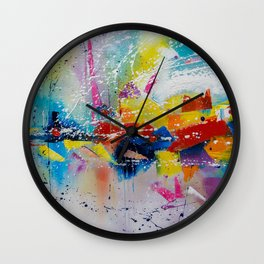 Travel of color Wall Clock
