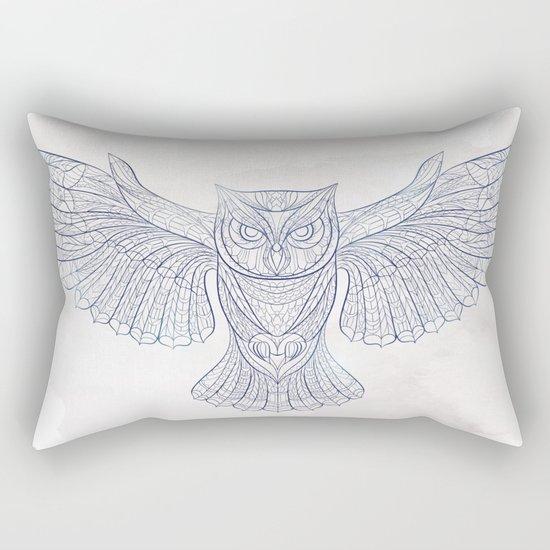 Ethnic Owl Rectangular Pillow