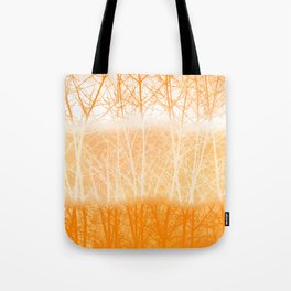 Frosted Winter Branches in Dusty Orange Tote Bag