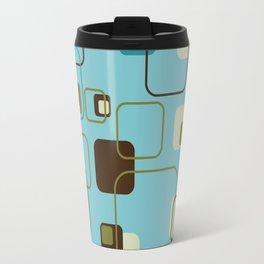 Mid-Century Modern Hep Cat (teal) Travel Mug